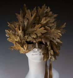 Golden Bronze Leaf Mask by TheArtOfTheMask on Etsy, $250.00