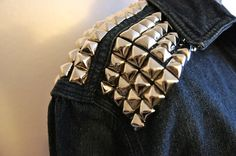 Gonna so this too!!! DIY: Studded Jean Jacket