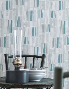 Wallpapers for dining rooms #modernwallpapers #bluewallpaperdiningroom #greywallpaperdiningroom #muralwallpaperdiningroom