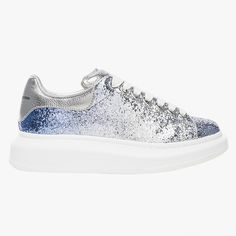 Alexander McQueen glitter platform lace-up sneakers, $575 Buy it now