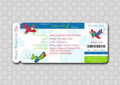 Plane Ticket Invitation Template Free Invites Pinterest Ticket - Airplane birthday invitation template