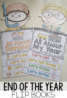 Summer and Memory end of the year flip book- reading and comprehension activities interactive format