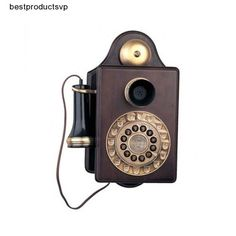 #Ebay #Old #Fashioned #Wall #Phone #Antique #Retro #Style #Wood #Wooden #Vintage #Replica #Rotary  #Paramount