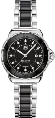 "TAG Heuer Women's WAH1314.BA0867 ""Formula 1"" Diamond-Accented Stainless Steel Watch  $  1,195.00    Product Features     Stainless steel watch featuring round black dial with diamond hour markers, unidirectional bezel, and black ceramic center bracelet links   Swiss quartz movement with analog display   Anti-reflective sapphire crystal dial window   Featur ..  http://www.bestwomenwatches.com/tag-heuer-womens-wah1314-ba0867-formula-1-diamond-accented-stainless-steel-watch-27/"
