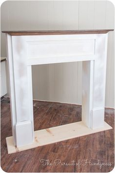DIY for in front of the fire place so we will have a mantle   Diy Faux Fireplace -27