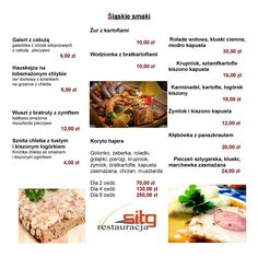 sitg restauracja - Menu