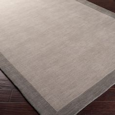 City Hues Solid Bordered Rug: 4 Colors