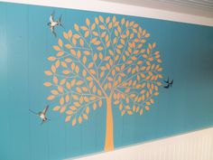 This room was developed to last a lifetime! With realistic swallows fluttering around a tree that was created with a custom Modello! A decorative artist's dream is a graphic artist that can see the same vision!