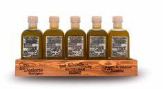 Comboy Oro del Desierto. 125ml x 5. Picual, Arbequina, Hojiblanca, Lechín y Vinagre. Almería.  #AOVE #EVOO #marenostrumgourmet #marenostrumgold #organic