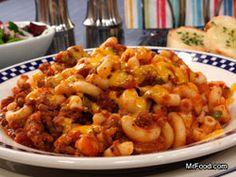 GOULASH: 1/2 pound elbow macaroni 1 1/2 pounds ground beef 1/2 green bell pepper, chopped 1 small onion, chopped 1 (28-ounce) jar spaghetti sauce 1 teaspoon garlic powder 1 teaspoon salt 1/2 teaspoon black pepper 1 cup (4 ounces) shredded Cheddar cheese