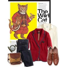 Great blazer!  the wild cat, created by catterson.polyvore.com