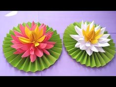 DIY How to Make Most Beautiful Lotus/ Water Lily With Paper!!! - YouTube