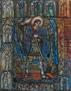 Machine stitched and burned Tyvek...St Michael...www.brelihart.com