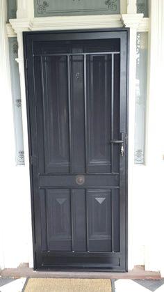 Steel security door with steel jamb installed in armadale.