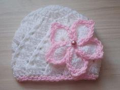 Crochet baby hat newborn girl hat baby girl hat by eanddcreation