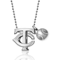 Minnesota Twins Alex Woo Little MLB with Mini Baseball Addition Sterling Silver Necklace - $235.99