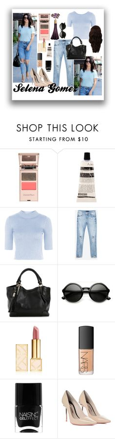"""""""Selena Gomez"""" by infinityforever25 ❤ liked on Polyvore featuring Charlotte Tilbury, Aesop, Topshop, Zara, Tory Burch, NARS Cosmetics, Nails Inc., Sophia Webster and WigYouUp"""