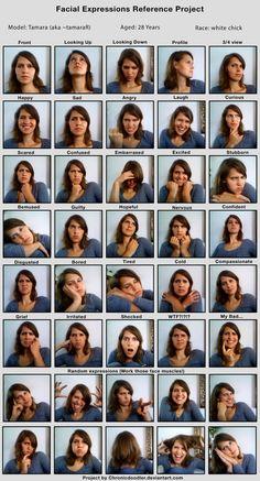 Tammy's facial expressions > Door je emoties te uiten, laat je aan anderen zien hoe het met je gaat.  >>> Ontdek spelenderwijs de taal van emoties. TIP's op www.LEKKER-in-je-VEL-spel.nl