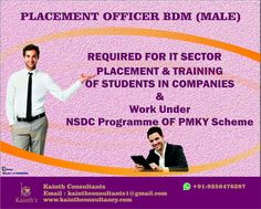 """""""Education beats the beauty and the youth"""" #placement #officer under NSDC National Skill Development Corporation Required for IT Companies & a Beauty Industry for #Chandigarh #Ludhiana. Email:- kainthconsultants1@gmail.com WhatsApp +91-9256476287  Click here:- www.kainthconsultancy.com"""