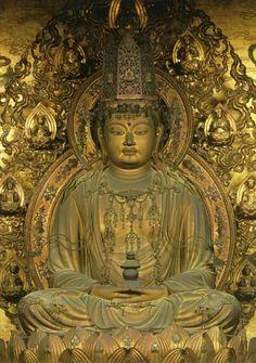 醍醐寺三宝院/弥勒菩薩坐像 Gautama Buddha, Buddha Buddhism, Buddhist Art, Japanese Buddhism, Japanese Art, Spiritual Images, Taoism, Sacred Art, Religion