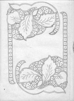 tovaglietta foglie ricamo intaglio