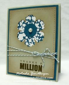 Fun idea for a card!   -Natasha Zandbergen -Stampin' Up!
