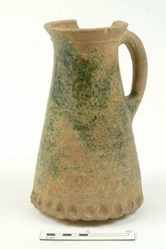 74.363: jug Production date: Medieval; mid 13th-14th century Measurements: H 241 mm; DM 155 mm