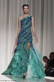 Beautiful water inspired dress.