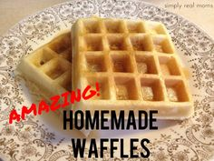 Amazing Homemade Waffles best recipe on the web easy delicious and nothing I dont already have in the kitchen 500x375 Amazing Homemade Waffl...