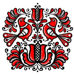 Korond Art Print, pattern inspired by Hungarian folk art from Transylvania