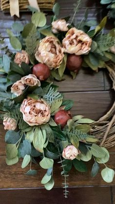 Fall Swags, Fall Wreaths, Door Wreaths, Paper Flower Wreaths, Giant Paper Flowers, Christmas Candle Decorations, Fall Floral Arrangements, Fall Wedding Centerpieces, Greenery Wreath