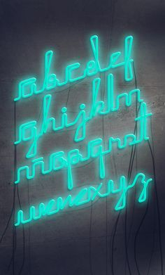 I feel like there's a lot of potential for different fonts to be adapted to neon lights. Fonts are so identifiable with different attitudes; it amazes me that I haven't seen an 'Open' sign in neon Helvetica yet... - Rech Neon PseudoScript font by José Velázquez