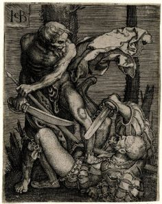 by Jacob Binck, death takes the Landsknecht, neither pike nor katzbalger sword will be able to save him.
