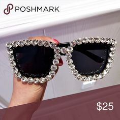 Sunglasses 🕶 Stylish sunglasses with rhinestone accent. Accessories Sunglasses