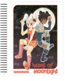 Y el último de los cuadernos hechos a traves de personalizatucuaderno.com  Probable portada de la versión en papel de mi cómic original GetsuKoko, con sus personajes principales
