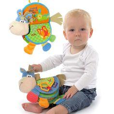 Bebé juguete de bebé libro animal toys muñecas de trapo desarrollo kids learning educational toys para niños bebé de juguete de felpa regalo to35