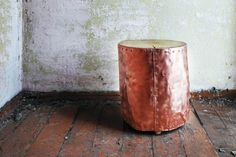 Copper Stump Bo. Wood Stump. Coffee table. Copper plated by Railis