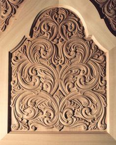 Acanthus carving,  Øvre skapdør   Flickr - Photo Sharing!