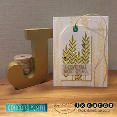Fab Friday 96. Concord & 9th Give Thanks Photopolymer, Hero Arts Gold Embossing Powder, The Paper Cut 48lb Vellum, Hero Arts Infinity Tags Dies, Pretty Pink Posh Gold and Sparkling Clear Sequins, May Arts Natural Twine.