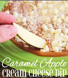 Caramel Apple Cream Cheese Dip from Jamie Cooks It Up! An easy way to get your caramel apple fix!
