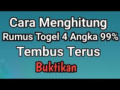 Cara Menghitung Rumus Togel 4 Angka 99% Tembus Terus - YouTube Lucky Numbers For Lottery, 40th Anniversary Gifts, Survival Skills, Youtube, Doa, Faces, 40th Birthday Gifts, Youtubers, Youtube Movies
