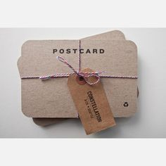 Letterpress Postcards by Constellation & Co.