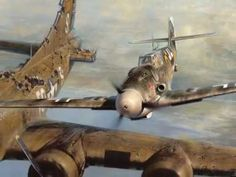 German pilot in WWII spared an American pilot over Germany only to reunite 40 years later and become fishing buddies - WAR HISTORY ONLI. Ww2 Aircraft, Fighter Aircraft, Fighter Jets, Luftwaffe, Image Avion, Ww2 Planes, Aviation Art, Military Art, A Christmas Story
