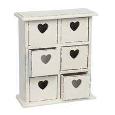 White Shabby Chic Distressed Heart Chest Of Drawers - Would be so cute in my daughters room.