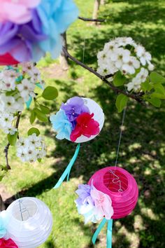 DIY Paper Flower Mini Lanterns by Icing Designs...I love these SO much!