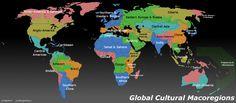 Global Cultural Macroregions, according to Reddit users