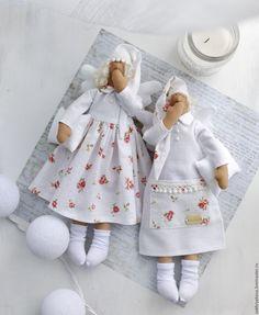 Купить Сонные ангелы. - тильда, кукла ручной работы, кукла Тильда, Декор, интерьер
