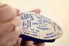 something blue - bridesmaids write on the bottom of the brides shoe.. Aww thats really sweet