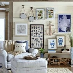 blue and gray santa barbara living rooms & Nautical Themed Living Room Decorating Ideas With Beautiful Image ...