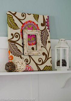 Fabric DIY Wall Art {tutorial